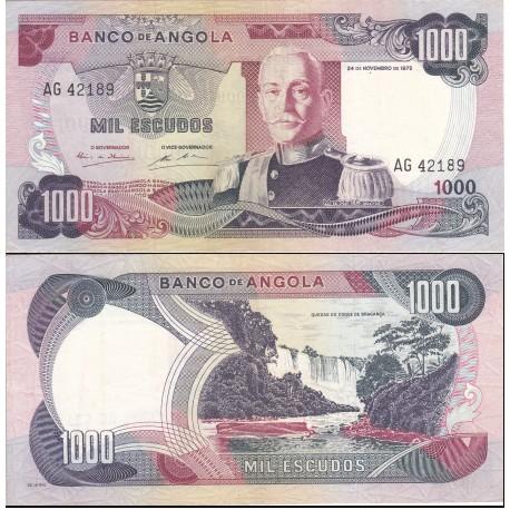 اسکناس 1000 اسکودو - آنگولا 1972 کیفیت VF