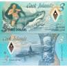اسکناس پلیمر 3 دلار - جزایر کوک 2021