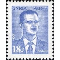 1 عدد  تمبر سری پستی - رئیس جمهور بشار اسد - 18 - سوریه 2006