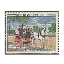 1 عدد تمبر تابلو اثر روسئو - فرانسه 1967