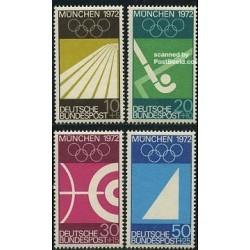 4 عدد تمبر المپیک مونیخ 1972 - آلمان 1969