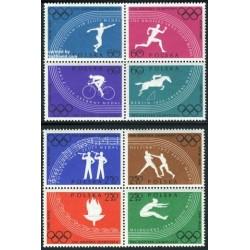 8 عدد تمبر المپیک رم - نقش برجسته - لهستان 1960