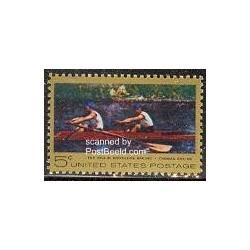 1 عدد تمبر تابلو نقاشی اثر ایکینز - قایقرانی - آمریکا 1967