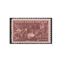 1 عدد تمبر انجمن پزشکان - آمریکا 1947