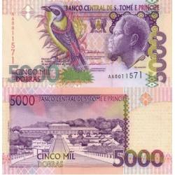 اسکناس 5000 دوبراس - سائو تام و پرینسپ 1996
