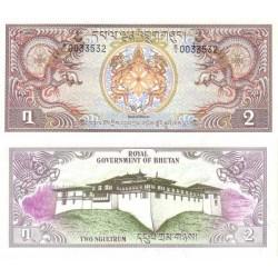 اسکناس 2 نگولتروم - بوتان 1981 تک