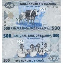 اسکناس 500 فرانک - رواندا 2013