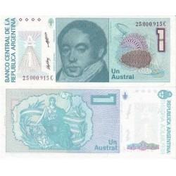 اسکناس 1 اوسترال - آرژانتین 1989 تک