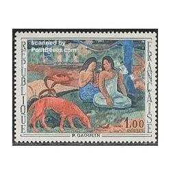 1 عدد تمبر تابلو اثر گاگین - فرانسه 1968