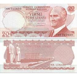 اسکناس 20 لیر - ترکیه 1974