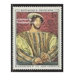 1 عدد تمبر تابلو اثر کلوئت - فرانسه 1967