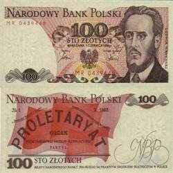 اسکناس 100 زلوتیچ - لهستان 1988