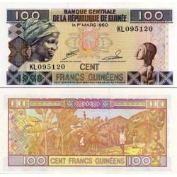 اسکناس 100 فرانک - گینه 1998 تک