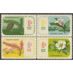 4 عدد تمبر کنگره گیاه شناسی - آمریکا 1969