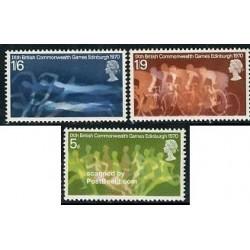3 عدد تمبر نهمین دوره جام کشورهای مشترک المنافع - انگلیس 1970