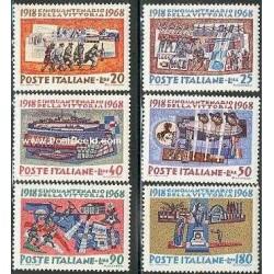 6 عدد تمبر پیروزی سال 1918 - ایتالیا 1968