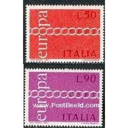 2 عدد تمبر مشترک اروپا - Europa Cept - ایتالیا 1971