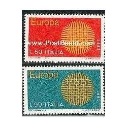 2 عدد تمبر مشترک اروپا - Europa Cept - ایتالیا 1970