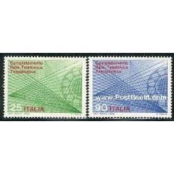 2 عدد تمبر سیستم تلفن - ایتالیا 1970