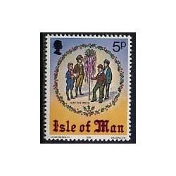 1 عدد تمبر کرستمس - جزیره من 1978