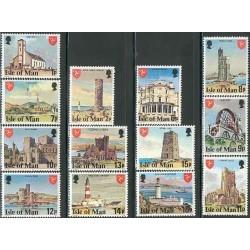 13 عدد تمبر سری پستی - اماکن توریستی - جزیره من 1978