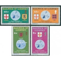 4 عدد تمبر کریستمس - گورنزی 1978