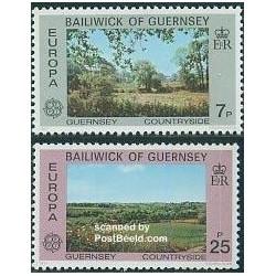 2 عدد تمبر مشترک اروپا - Europa Cept - گرنزی 1977