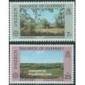 2 عدد تمبر مشترک اروپا - Europa Cept - گورنزی 1977