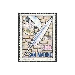 1 عدد تمبر صدمین سال دبیرستان سان مارینو - سان مارینو 1983