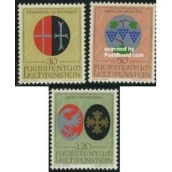 3 عدد تمبر آرمهای مذهبی - لیختنشتاین 1971