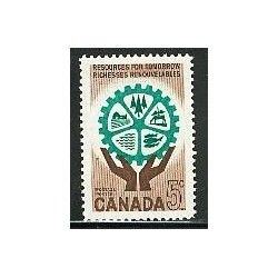 1 عدد تمبر منابع تجدید پذیر - کانادا 1961