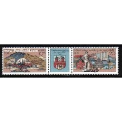 2 عدد تمبر نمایشگاه تمبر جوانان با تب - آلمان 1980