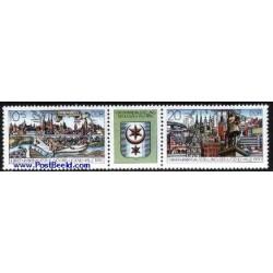 2 عدد تمبر نمایشگاه تمبر جوانان با تب - آلمان 1990