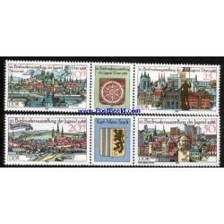 4 عدد تمبر نمایشگاه تمبر جوانان با تب - آلمان 1988