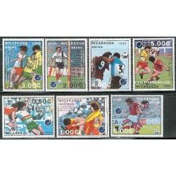 7 عدد تمبر فوتبال جام ملتهای اروپا - نیکاراگوئه 1988