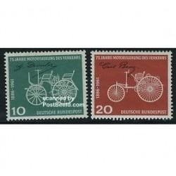 2 عدد تمبر 75مین سال اتومبیلها - آلمان 1961