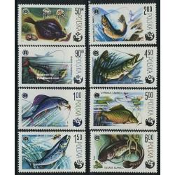 8 عدد تمبر ماهیگیری ورزشی - لهستان 1979