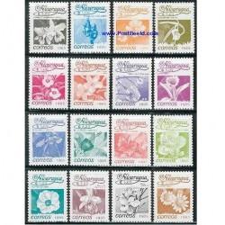 16 عدد تمبر گلها - نیکاراگوئه 1986