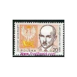 1 عدد تمبر روز جهانی پست - لهستان 1988