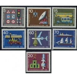 7 عدد تمبر نمایشگاه حمل و نقل - آلمان 1965