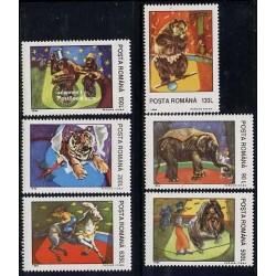 6 عدد تمبر سیرک - رومانی 1994