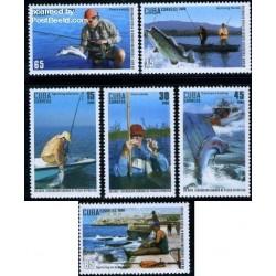 6 عدد تمبر  ماهیگیری ورزشی - کوبا 2009