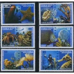 6 عدد تمبر عکاسی زیر آب - کوبا 2010