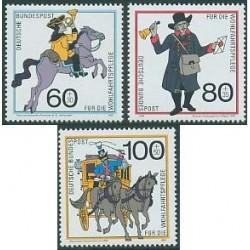 3 عدد تمبر رفاه اجتماعی - آلمان 1989