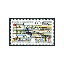 1 عدد تمبر امنیت ترافیک - آلمان 1991