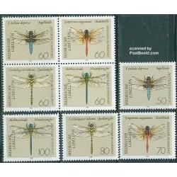 8 عدد تمبر سنجاقکها - آلمان 1991