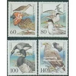 4 عدد تمبر پرندگان دریائی حفاظت شده - آلمان 1991