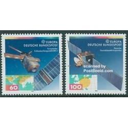 2 عدد تمبر فضای اروپا - آلمان 1991
