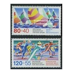 2 عدد تمبر ورزشی -  آلمان 1987