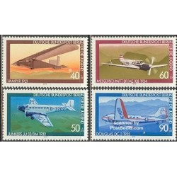 4 عدد تمبر جوانان - هواپیماها - آلمان 1979